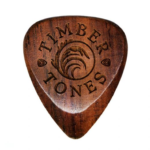 Timber Tones Grip Burma Padauk 1 Guitar Pick